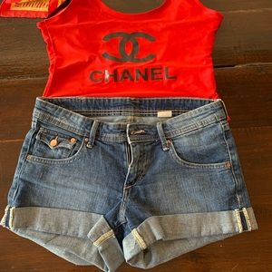 Denim shorts size US8